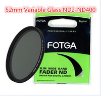 Wholesale FOTGA mm Slim Fader ND Filter Circular Adjustable Fader Variable Glass Mirror ND2 to ND400 Neutral Density For Canon Sony Nikon