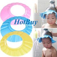 Wholesale Adjustable Baby Child Kids Shampoo Bath Shower Cap Hat Wash Hair Shield