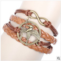 Wholesale 20pcs Chicken PU Leather Bracelet Plated Rose Gold Charm Magnetic Clasp