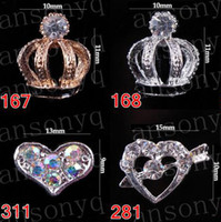 Wholesale 50pcs Optional Nail Stickers Tips Jewelry Nail Art Alloy Rhinestones Decoration Beads Gift A5 series