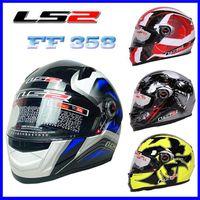 Blacks full face helmet - Newest LS2 FF Full face Motorcycle Helmet Urban Racing Helmet DOT ECE Approved