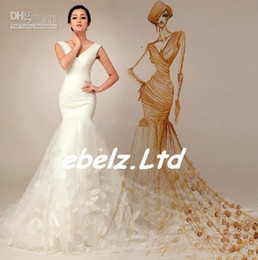 Wholesale With Gift ebelz ON SALE DH One Shoulder Mermaid Applique White Bridal Wedding Dresses Sexy Wedding Dress Gowns Custom Made