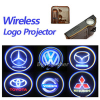 Wholesale No damage wireless car door light logo projector welcome led lamp ghost shadow light for Audi Benz Toyota Nissan Mitsubishi Mazda VW Opel