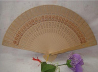 Wholesale Fashion Elegant Chinese wood wedding fan best idea for wedding party gift