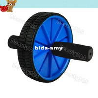 Wholesale New Dual Abdominal Wheel Ab Roller With Mat For Exercise Fitness Equipment