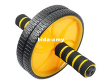 Wholesale Double Wheeled Abdominal Wheel Ab Roller With Mat For Exercise Fitness Equipment Colors