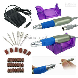 Wholesale High Quality RPM Nail Drill Kit Manicure Art Machine File Bits Acrylic Bands