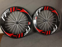 Wholesale High quality FFWD mm carbon road bicycle bike clincher Tubular black red wheels wheelset with brake pads