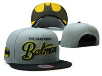 Wholesale DC Comics Batman Cartoon Snapback Hats Grey men s fashion character adjustable caps
