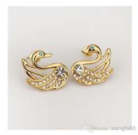 Wholesale New Fashion Punk Stainless Steel Crystal Earrings Hoop Huggie Ear Studs Unisex Earrings