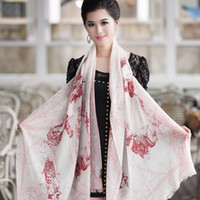 Wholesale Quality cashmere print scarf large cape dual use ultra long thickening thermal autumn and winter women s