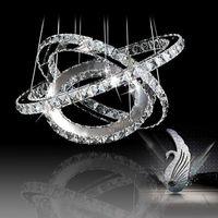 Wholesale Round LED K9 Lustre Crystal Chandelier Lighting Modern Pendant lamp Lights for home ring cm PL291