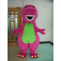 barney fancy dress - Factory direct sale Hot New Profession Barney Dinosaur Mascot Costumes Halloween Cartoon Adult Size Fancy Dress