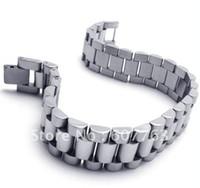 achat en gros de bande de style libre-New Arrivée 316L en acier inoxydable Style Band Link Men Bracelet BYS088, cadeau chaud Livraison gratuite