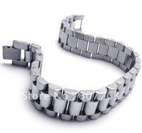 Revisiones Bandas de acero inoxidable enlaces-Nueva pulsera BYS088, regalo caliente de los hombres del acoplamiento de la venda del estilo del acero inoxidable de la llegada 316L Envío libre
