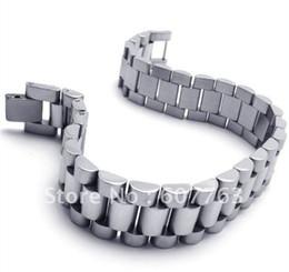 Nueva pulsera BYS088, regalo caliente de los hombres del acoplamiento de la venda del estilo del acero inoxidable de la llegada 316L Envío libre desde bandas de acero inoxidable enlaces fabricantes