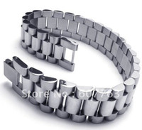 al por mayor bandas de acero inoxidable enlaces-Nueva pulsera BYS087, regalo caliente, envío libre del acoplamiento de la venda del acero inoxidable de la llegada 316L
