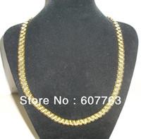 2013 nuevos llegan el acero inoxidable 18K de los hombres de la alta calidad noble estupenda de la manera 316L Acero PVD que platea el collar del acoplamiento de la venda del estilo de Rolex