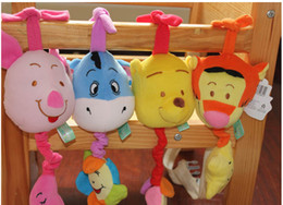 Wholesale Baby music box music pulling bell ring toys baby plush toys cartoon bed hanging kids education toys