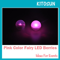 Wholesale Wedding And Events deocration Button Battery Operated Mini Flash LED Light Ball Fairy LED Berries Submersible led light