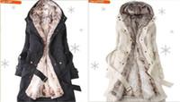 Hoodie de la fourrure pour les femmes Avis-HOT 2016 manteaux de fourrure des femmes de style nouveau hiver chaude manteau manteau des femmes Hoodie surcoat 3 couleur S-3XL