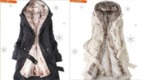 Wholesale HOT New style Women s Fur Wool Coats winter Warm Long Coat Clothes Ladies Coat overcoat color S XL