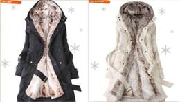 Wholesale HOT New style Women s Fur Wool Coats winter Warm Long Coat Clothes Ladies Coat overcoat color S XL