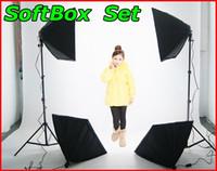Wholesale Photography Rectangle Continuous SoftBox Lighting Kit x70cm Softbox Light Holder Stand Photo Studio Equipment Set