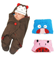 Wholesale Fast shipping New Fashion Children Baby sleeping bads baby Cartoon blanket designs can choose