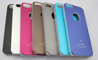For iPhone 5 5S air jacket iphone case - A6 A5 Air Jacket Aluminium Metal Metallic Plastic Hard Case Cover Shell For iPhone Plus quot S S