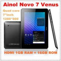 Wholesale 5pcs Ainol Novo7 Venus Quad Core Tablet PC Android IPS HD Screen Inch GB Dual Camera