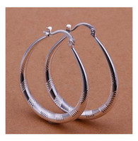 Wholesale Factory price Sterling Silver fashion jewelry charm circle earring jewelry