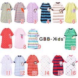 Wholesale NWN Cart Colors Pajamas Sleepers Baby sleeping Bags Nightware Animal Pattern Santa Sleepings