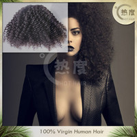 Wholesale remy kinky curly weft hair A virgin curly weft Peruvian virgin hair