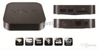 Wholesale HOT MINIX NEO X7 Android Quad Core Mini RK3188 G RAM G ROM Smart PC Stick Bluetooth External P Wifi Antenna RJ45 TV Box