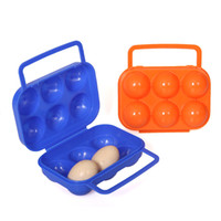PVC egg container - 10Pcs Portable Picnic Camping Plastic Carrier Holder Storage Container Egg Box Case