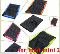 Protective Shell/Skin 7.9'' For Apple 2 in 1 Hybrid TPU PC Robot Case Cover w  Stand Holder for Apple iPad Air iPad 5 New iPad Mini Retina Mini 2 Tablet New 6 Colors