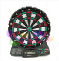Wholesale free ship new inches electronic dart target electronic dart board scorer game soft dart