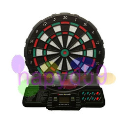 funny family game 12inches electronic dart target electronic dart board scorer 18 game 6 soft dart