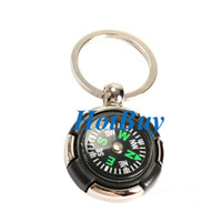 Wholesale Survival Ruder Compass Pendant Keychain Outdoor Camping Hiking Key Ring