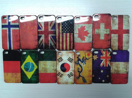 Wholesale New products Hard Plastic USA UK Antique Scrub Country Retro National Flag Matte Case Cover For iPhone G S