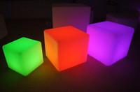 Wholesale Led fashionable luminous Shining Cube chair for bar furnitre party furniture decoration Furniture plastic furniture For