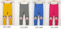 Wholesale 5pcs Qiu dong cartoon monkey thickening is not warm velvet relic of leggings casual pants pants shipping g