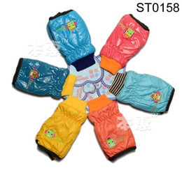 Wholesale ST0158 children fleece gloves boys girls robot mittens kids winter baby accessories mixed designs jlbgmy