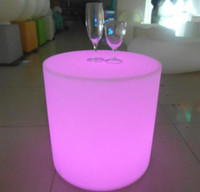 Wholesale Led fashionable luminous Shining round stool for bar furnitre party furniture decoration Furniture plastic furniture For