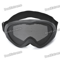 Wholesale Tactical Metal Mesh Protective Goggles for War Game