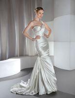 Cheap Trumpet/Mermaid mermaid wedding dress Best Model Pictures One-Shoulder one strap bridal dress