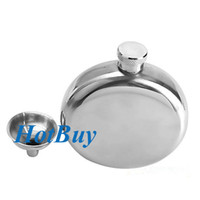 Wholesale 5oz Mirror Polished Stainless Portable Liquor Wine Hip Flask with Funnel