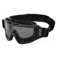 Wholesale SW2021 Outdoor Games Protective Anti shock Plastic Steel Mesh Sponge Goggles Black
