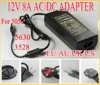 Wholesale Hot sale newnest V to DC V A Power Adapter Supply Charger For SMD LED Strips Light EU USA UK Plug